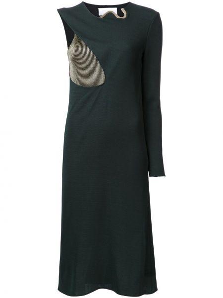 Зеленое платье из вискозы Esteban Cortazar
