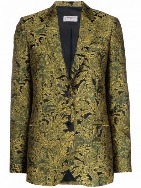 Однобортный черный удлиненный пиджак для полных Alberto Biani