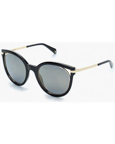 Солнцезащитные очки кошачий глаз черные Polaroid