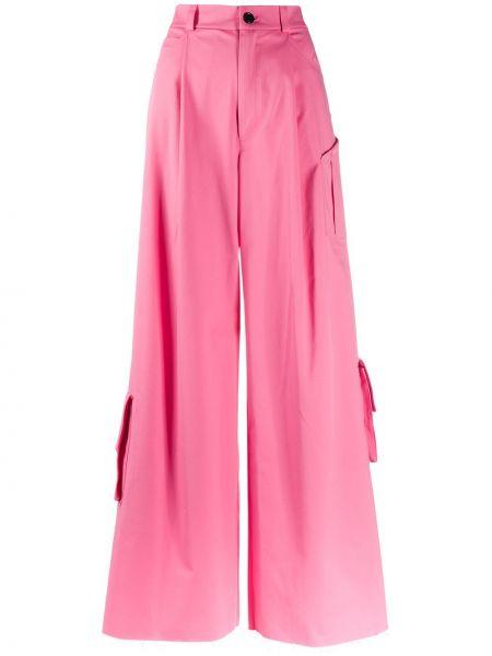Хлопковые розовые брюки карго свободного кроя Natasha Zinko