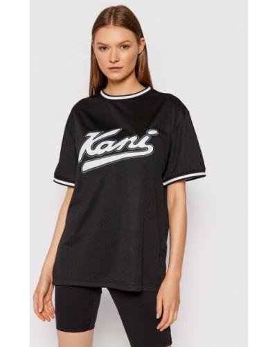 Czarna t-shirt z siateczką Karl Kani