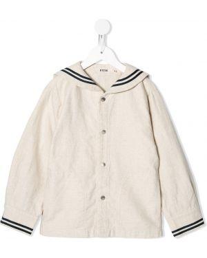 Пуховая белая куртка Fith