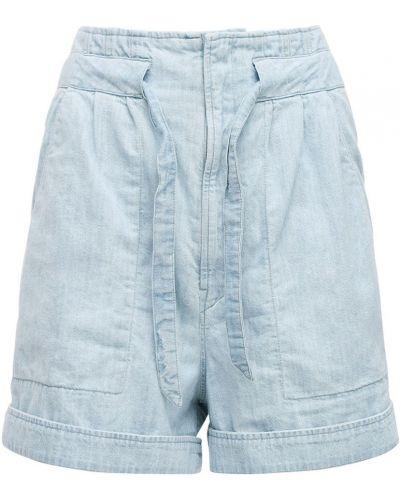 Синие джинсовые шорты с карманами с заплатками Isabel Marant étoile