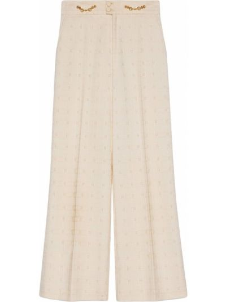 Wełniany bawełna spodni spodnie z kieszeniami Gucci