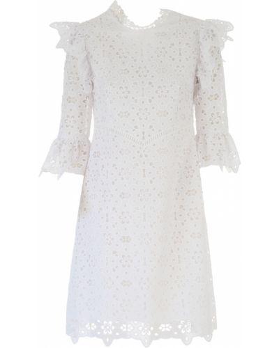 Biała sukienka wieczorowa bawełniana Vivetta