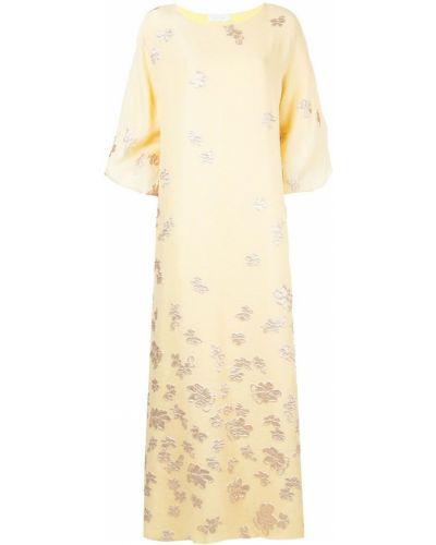 Свободное желтое платье Mounay
