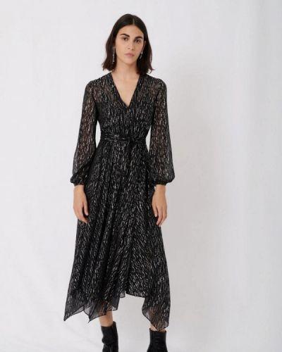 Черное вечернее платье Maje