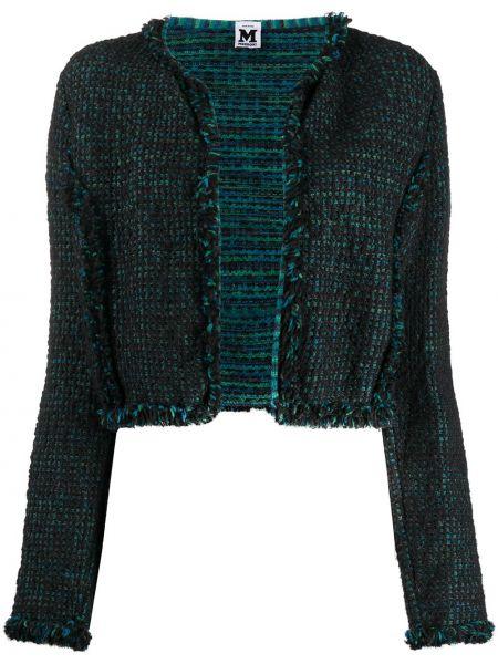 Синий удлиненный пиджак с вырезом без застежки Missoni Pre-owned