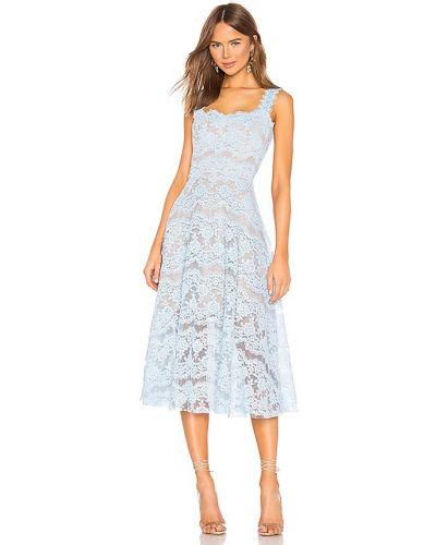 Пляжное кружевное синее платье миди Bronx And Banco