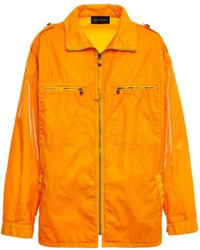 Pomarańczowa kurtka z aksamitu do pracy Mr&mrs Italy