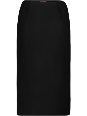 Шерстяная черная юбка карандаш стрейч для офиса Altuzarra