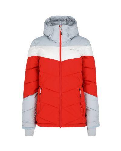 Оранжевая утепленная куртка горнолыжная на молнии Columbia