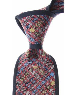 Niebieski krawat z jedwabiu Mila Schon