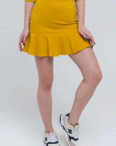 Юбка широкая желтый Kira Mesyats