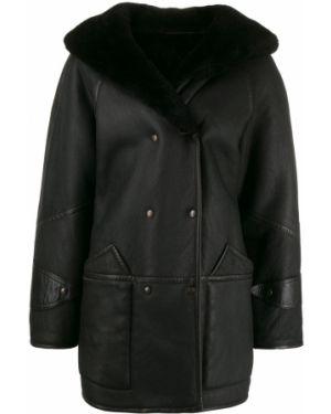 Черная длинное пальто на пуговицах A.n.g.e.l.o. Vintage Cult