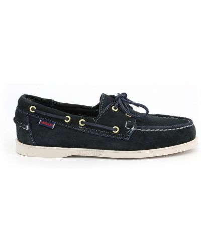 Loafers zamszowe - niebieskie Sebago