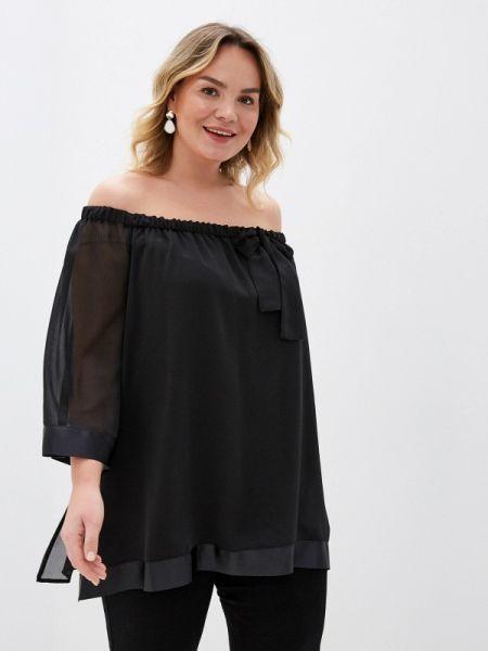 Блузка с открытыми плечами черная весенний Keyra