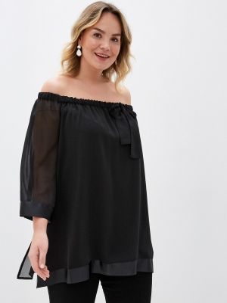 Черная блузка Keyra