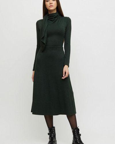 Трикотажное зеленое вязаное платье Cardo