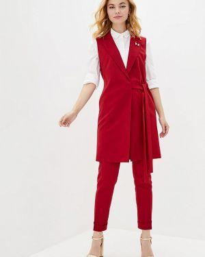 Красный облегающий брючный костюм Zubrytskaya