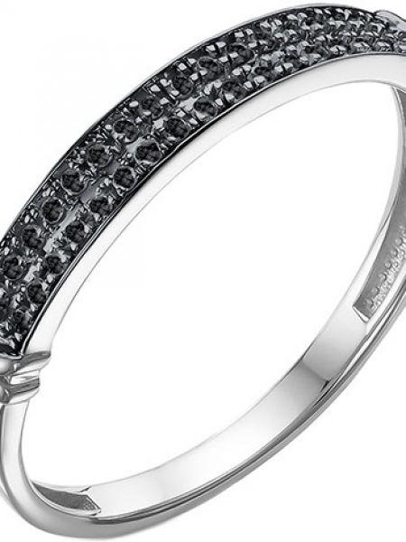 Черное кольцо с бриллиантом Imperial