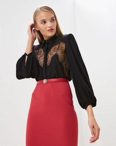 Черное боди блуза Elisabetta Franchi