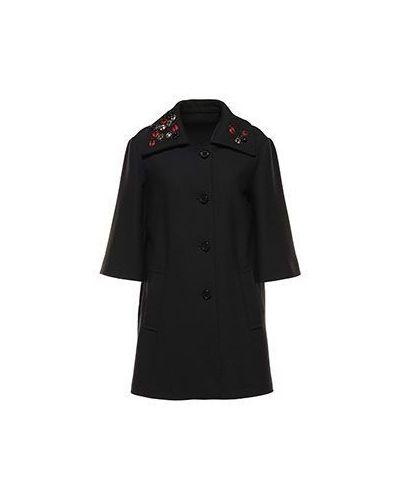 Черное пальто весеннее Valentino Red