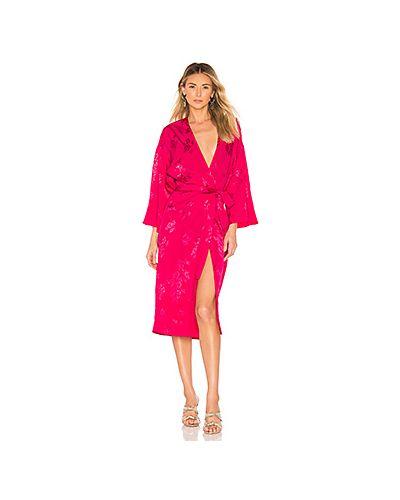 Платье миди розовое джинсовое Lovers + Friends