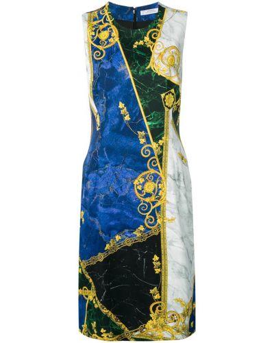 Платье без рукавов - синее Versace Collection