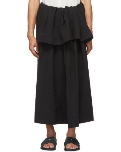 Ватная хлопковая черная юбка Jan Jan Van Essche