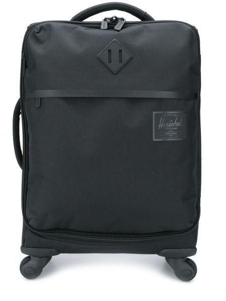 Черный чемодан на молнии с карманами Herschel Supply Co