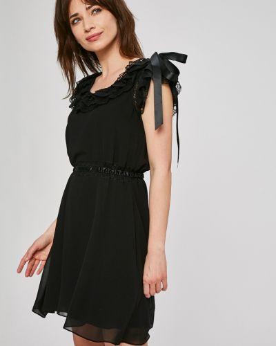 Платье мини с поясом прямое с оборками Silvian Heach