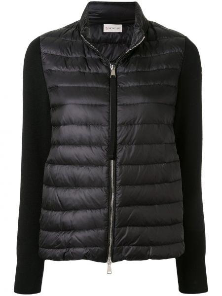 Куртка черная на молнии Moncler