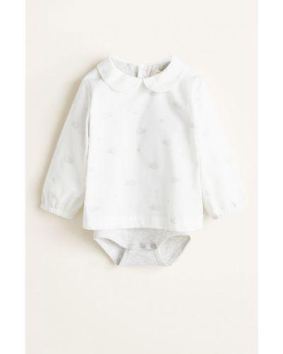Белая рубашка с воротником Mango Kids