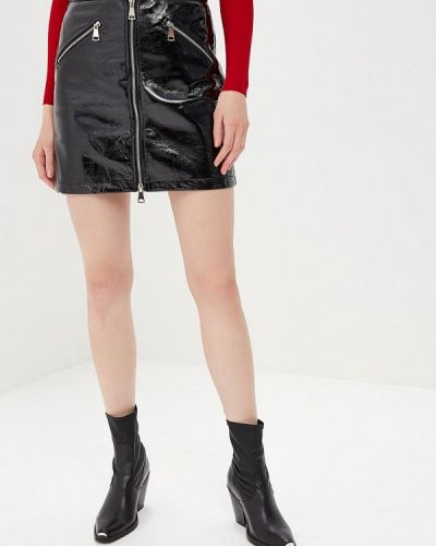 Кожаная юбка черная You&you