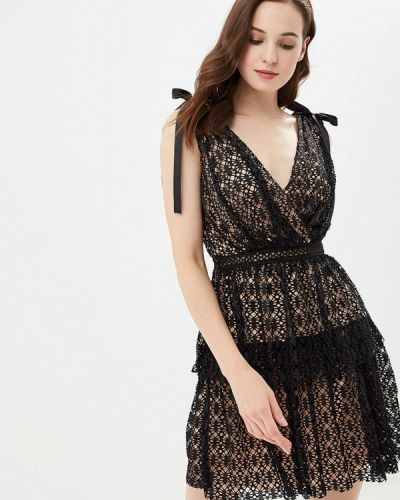 Вечернее платье осеннее черное Soky & Soka