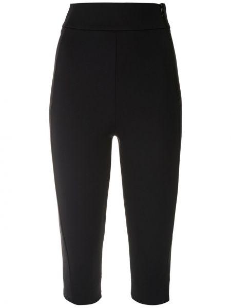 Однобортные черные короткие шорты с карманами Gloria Coelho