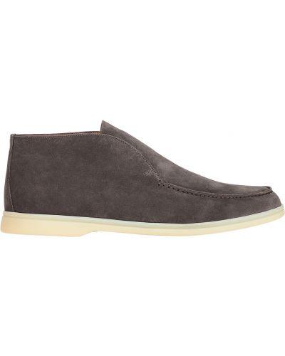 Кожаные ботинки замшевые осенние Loro Piana