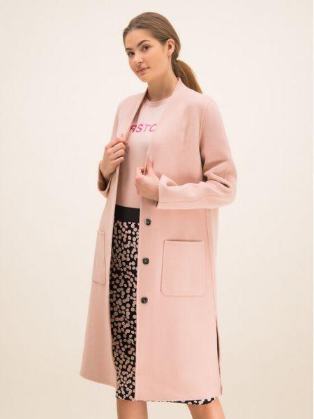 Różowy płaszcz wełniany Laurel