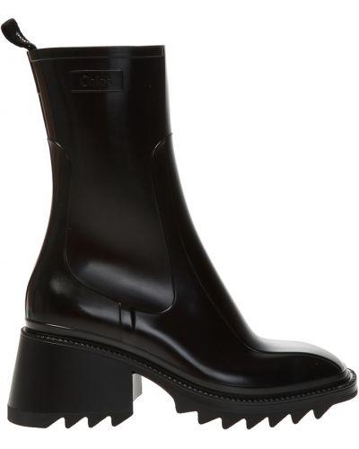Czarne ankle boots Chloe