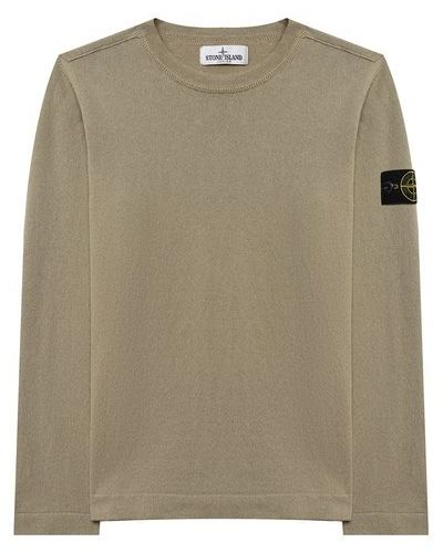 Хлопковый зеленый свитер Stone Island