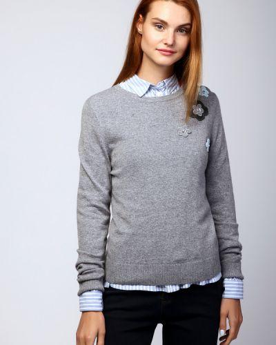 Пуловер со стразами с аппликацией Pezzo