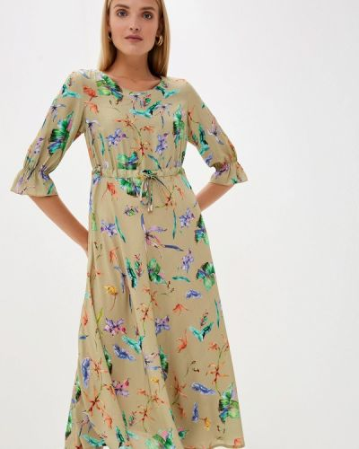 Платье прямое бежевое Helmidge