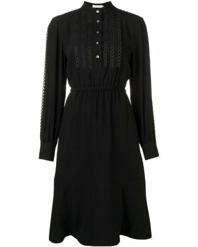 Платье миди на пуговицах с воротником-стойкой Calvin Klein