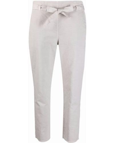 Хлопковые укороченные брюки с карманами узкого кроя Kristensen Du Nord