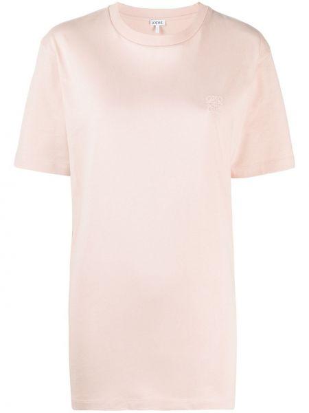 С рукавами розовая футболка оверсайз круглая Loewe