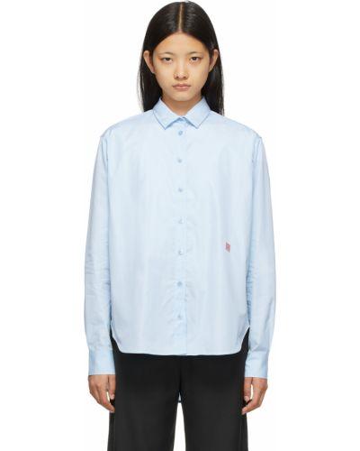 Рубашка с длинным рукавом - синяя Toteme