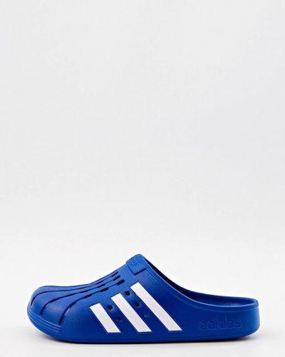 Синие резиновые сабо Adidas