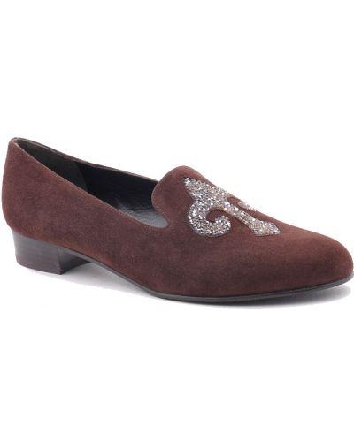 Кожаные туфли осенние замшевые Stuart Weitzman