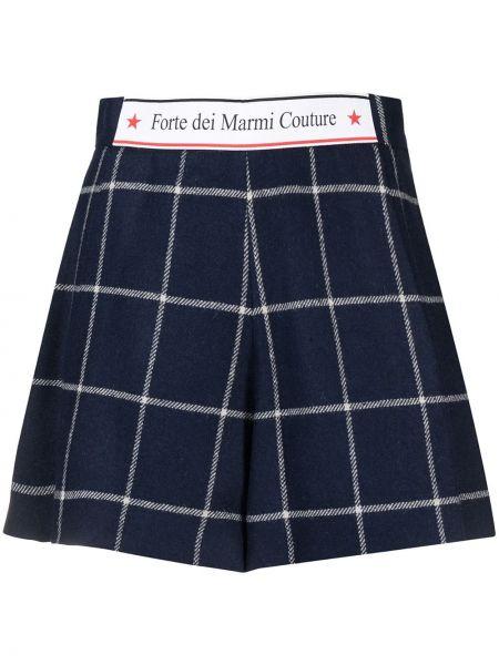 Niebieskie szorty wełniane Forte Dei Marmi Couture